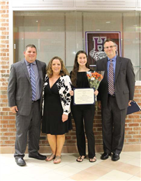 Vocalist Honored by Board of Education photo